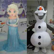New Adult Frozen Princess Elsa and olaf anna mascot costume Fancy Dress Party