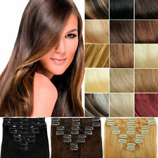 "16""20""24""For 8pcs 80g Set Clip in Real Remy 100% Human Hair Extension 20 Colors"