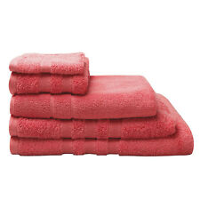 Logan and Mason Low Twist 100% Cotton Towels 600gsm Coral Orange Size Set Choice