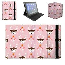 Oh Deer! Pastel Pink Flip Folio Case - fits iPad Air Mini Kindle Samsung Galaxy