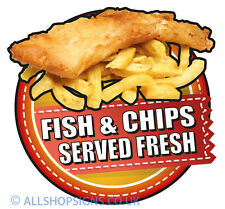 Fresh fish and chips Catering Sign Window sticker Cafe Restaurant Stickers