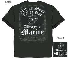 US Marine Corps Not As Mean Not As Lean Always a Marine T-Shirt USMC M-3X