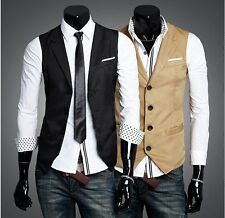 Mens Waistcoat Slimfit/Fitted Casual Business Jacket Coti