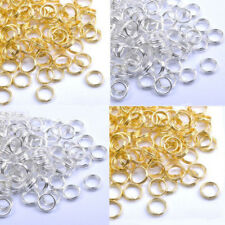 Trendy Gold Plated & Silver Plated Metal Jump Double Split Jump Rings 4-14mm