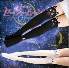 Anime Sailor Moon Cosplay 20th Anniversary Cat Pattern Pantyhose Tight Stockings