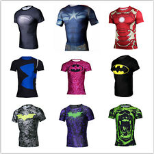 New Men Marvel Superhero Avengers Costume Top Tee T-Shirts Jersey Cycling Shirts