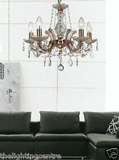 Glass Crysta Marie Therese l Chandelier Ceiling Light 5 Light In Gold OR Chrome