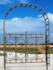 Wrought Iron Garden Mohita Metal Arbor Gate - Great Flower Arch