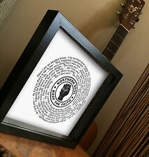 NORTHERN SOUL Frank Wilson DO I LOVE YOU vinyl framed print Father's day gift