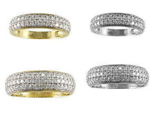 14k Yellow/White Gold CZ Duo His & Her Engagement Ring Wedding Band Sets
