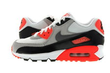 "Youth (GS) Nike Air Max 90 ""Infrared"" Prem Mesh White/Cool Grey 724882-100"