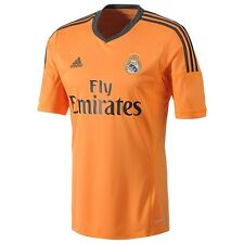 adidas Real Madrid 2013-2014 Third Soccer Jersey Brand New Orange