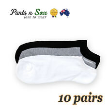 10 Pairs Mens Cushioned Low Cut Cotton Socks Warm Heavy Duty No Show 2-8 6-11