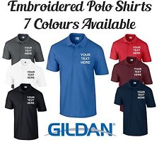Custom Personalised Text Embroidered Polo Shirt T-Shirt Business Workwear S-3XL
