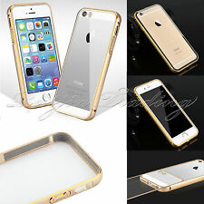 Luxury Metal Bumper Frame w/ Clear Back Case Cover Hard Skin For iPhone 5 5s