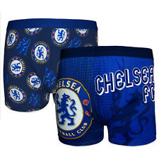 Chelsea Football Club Official Gift 2 PAIR Pk Mens Crest Boxer Shorts