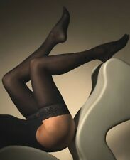 Gipsy 50 Denier Velvet Luxury Opaque Hold Ups Black Lace Top Thigh Highs