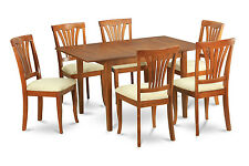 Picasso 7 Pieces dinette set for small spaces - Table with Leaf and 6 Chairs