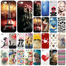 New Fashion Floral Printed Hard Back Phone Skin Case Cover For Apple iPhone 5 5S