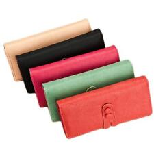 Women PU Leather Medium Style Wallet Cute Snap Fastener Soft Leather Purse