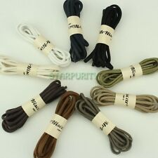 9 Colors! Men Women Round Thick Waxed ShoeLaces Brogue Leather Shoes Boot Laces