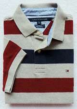 New Men's Tommy Hilfiger Short Sleeve Striped Polo Size M