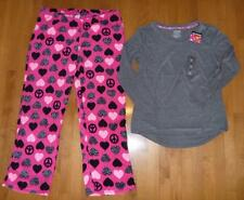 Joe Boxer Women 2 pc Pajamas PJs Size M Large XL pants top Pink Gray Hearts NWT