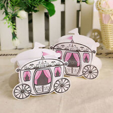 Cinderella Carriage Baby Girl Shower Favor Boxes Candy Gift Boxes Wedding Favors