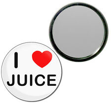 I Love Juice - Round Compact Glass Mirror 55mm/77mm BadgeBeast