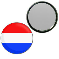 Holland Flag - Round Compact Glass Mirror 55mm/77mm BadgeBeast