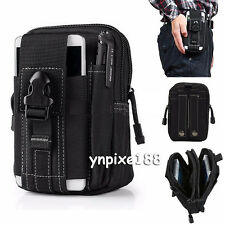 Black Universal Army Camo Bag For Cell Phone Belt Loop Hook Case Pouch Holster