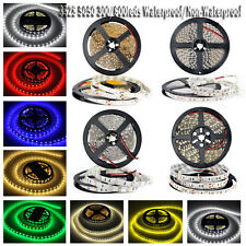 5M 10M 3528 5050 SMD 150 / 300 / 600 LEDs flexible Strip light DC 12V White RGB
