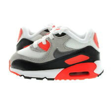 "Infant (TD) Nike Nike Air Max 90 ""Infrared"" Prem Mesh White/Cool Grey 724884-100"