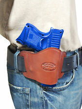 New Barsony Burgundy Leather Gun Quick Slide Holster Taurus Compact 9mm 40 45