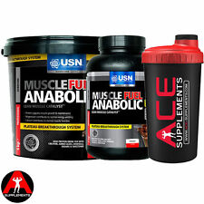 USN Muscle Fuel Anabolic Muscle Growth All Size + Free Shaker