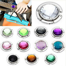 Useful Foldable Folding Crystal Alloy Purse Handbag Hook Hanger Bag Holder