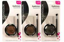 kleanColor Eyebrow Brows Kit - 3 Eyebrows Stencils, 1 Eyebrow Powder, 1 Brush