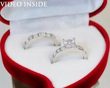 Princess Cut 2.28CT Engagement Ring Wedding Ring F Platinum 22KT Made in Italy