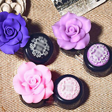Best New Rose Flower Travel Case Eye Care Kit Contact Lens Holder Box Portable