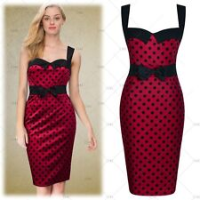 Womens Retro 1950s Vintage Butterfly Cocktail Party Evening Clubwear Dresses