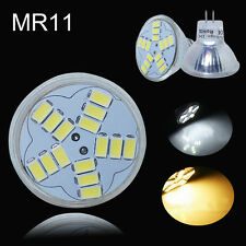1/4/8/10x MR11 GU4 4W 15SMD 5630 LED Bulbs High Power Warm Day White Light Lamp