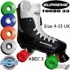 SUPREME Turbo 33 Patines Quad Krypto Impulso 62mm A elegir rueda colores