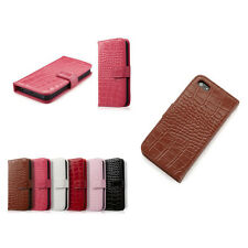 Crocodile Alligator Leather Skin Case Cover Protector For Apple iPhone 5S 5 4G