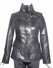 Women Petite & All Size 4212 Soft Lambskin Leather Fashion Long Biker Jacket New
