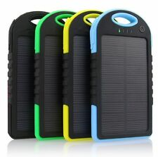 5000mah 2 USB Waterproof Solar Power Bank External Battery Charger For Phones
