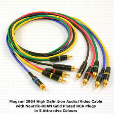 MOGAMI 2964 HIGH DEFINITION AUDIO RCA CABLE, CHOOSE YOUR OWN LENGTH AND COLOURS