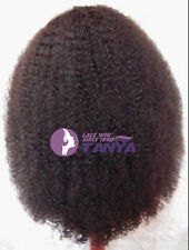 """New Fashion Afro Curl 100% India Remy Human Hair Front/Full Lace Wigs 12""""-24"""""""
