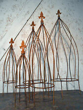 """19"""" Wrought Iron Twist Topiary or Obelisk Trellis - Great in a Flower Pot"""