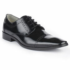 Pinellii Leather Dress Shoes Mens S Black Lace Up Mens formal casual brogue