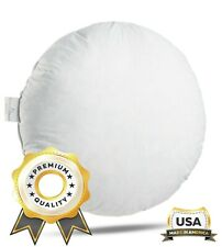 ComfyDown - FEATHER/DOWN Round Circle Pillow Insert - ALL SIZES!! Made in USA